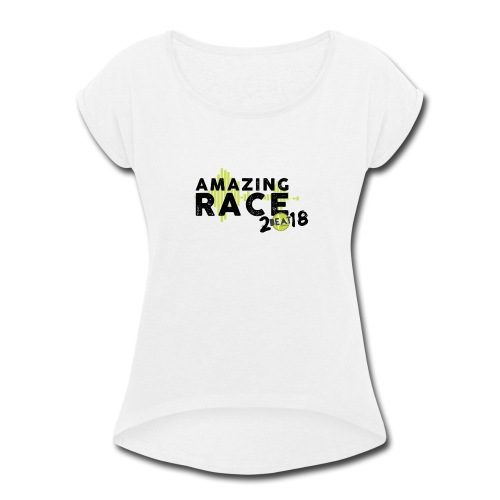 Amazing Race - Women's Roll Cuff T-Shirt
