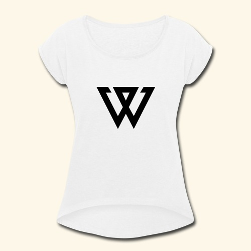 WINNER LOGO - Women's Roll Cuff T-Shirt