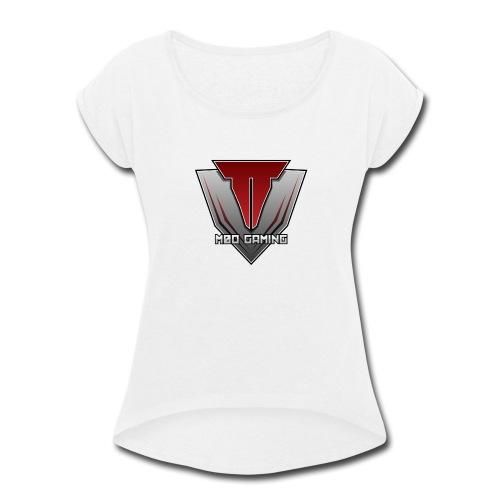 m0o gaming - Women's Roll Cuff T-Shirt