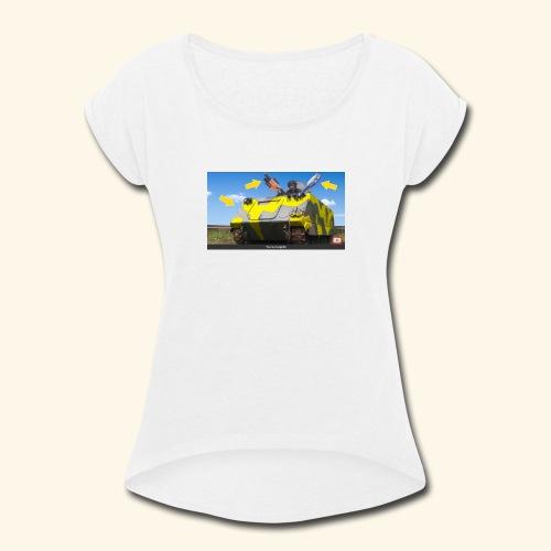Tank Demolisher - Women's Roll Cuff T-Shirt
