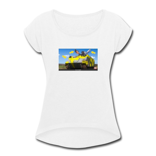 Tank Demolisher - Women's Roll Cuff T-Shirt