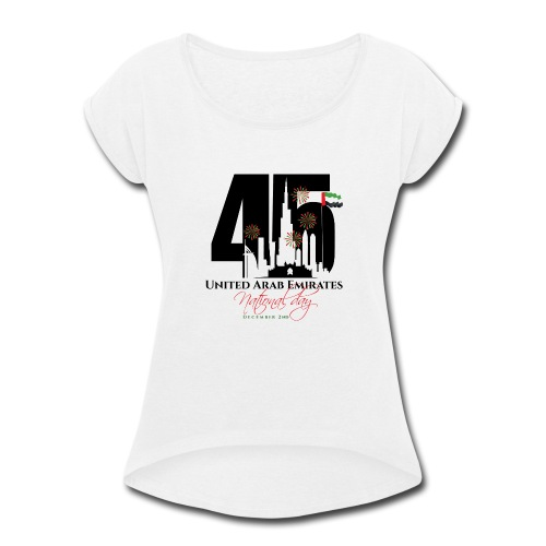 UAE 45 National Union Day - Women's Roll Cuff T-Shirt