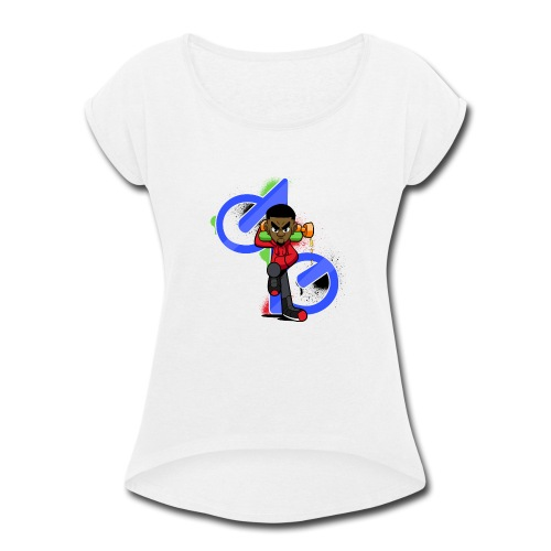 OBE1plays - Women's Roll Cuff T-Shirt