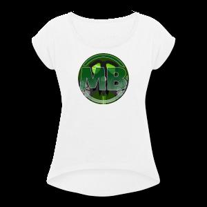 Official Mblohr Logo - Women's Roll Cuff T-Shirt