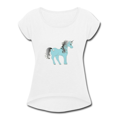 Unicorn - Women's Roll Cuff T-Shirt