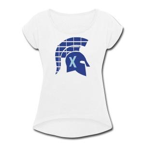Spartans Tech Blue - Women's Roll Cuff T-Shirt