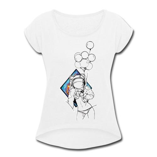 Astronaute - Art'Norme - Women's Roll Cuff T-Shirt