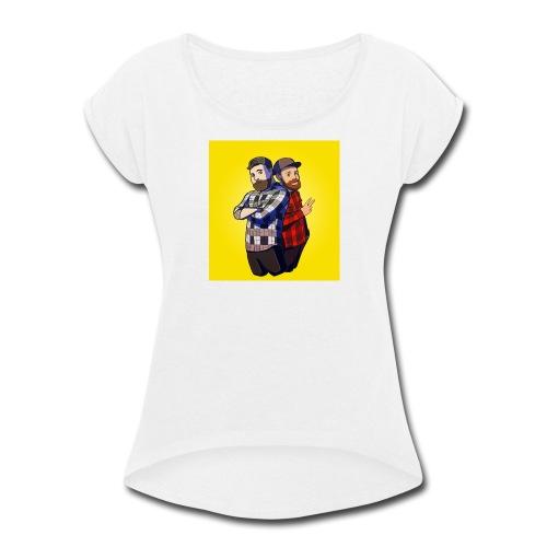 Back To Back - Women's Roll Cuff T-Shirt