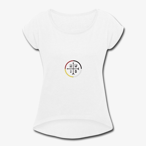 SEB Logo - Women's Roll Cuff T-Shirt