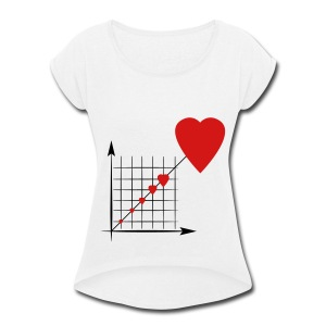 Love Diagram - Women's Roll Cuff T-Shirt