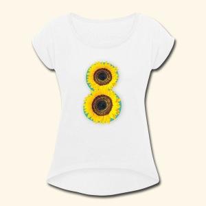 8 Exabytes Sunflower by GVD - Women's Roll Cuff T-Shirt