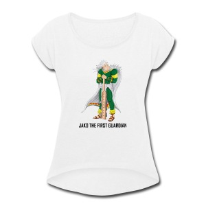 Full Aztec Power Jako - Women's Roll Cuff T-Shirt