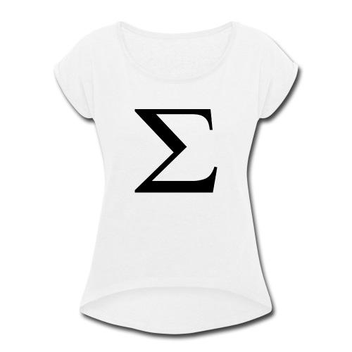 Greek Letter - Women's Roll Cuff T-Shirt