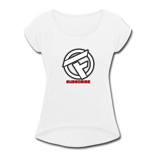 Subscribe Logo - Women's Roll Cuff T-Shirt