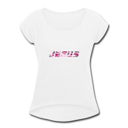 Pink Camouflage - Women's Roll Cuff T-Shirt