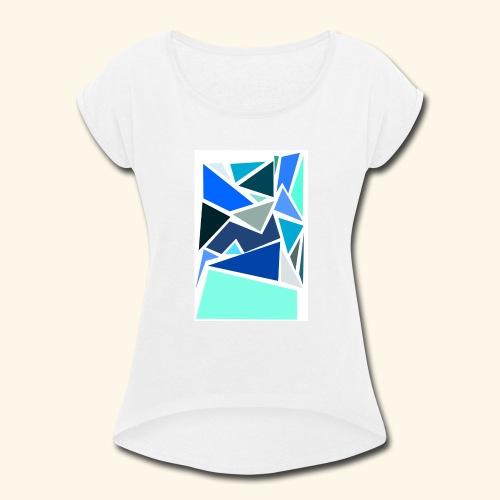 Funky Triangles - Women's Roll Cuff T-Shirt