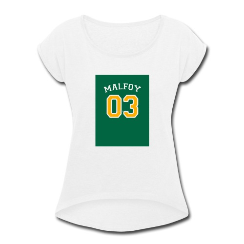 Malfoy 03 - Women's Roll Cuff T-Shirt