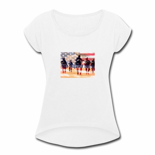 sons daughters hero's - Women's Roll Cuff T-Shirt