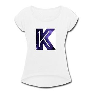 LuisK47 K merch !!!! - Women's Roll Cuff T-Shirt