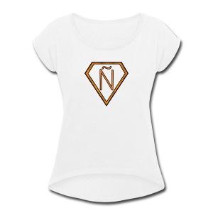 Ñ Orange - Women's Roll Cuff T-Shirt