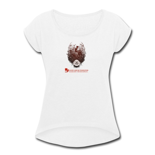 CANCER RESEARCH - Women's Roll Cuff T-Shirt