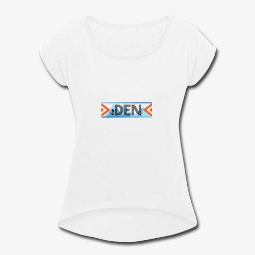 DEN LOGO 2 - Women's Roll Cuff T-Shirt