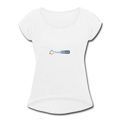 TheAdsTeam Logo - Women's Roll Cuff T-Shirt