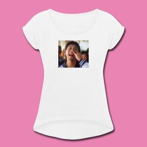 如花 baby - Women's Roll Cuff T-Shirt