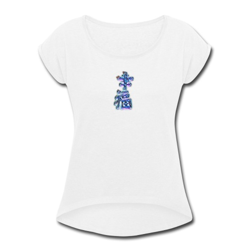 KaiJai Japanese Happiness - Women's Roll Cuff T-Shirt