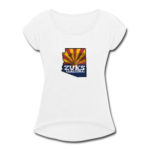 Zuks of Arizona Official Logo - Women's Roll Cuff T-Shirt