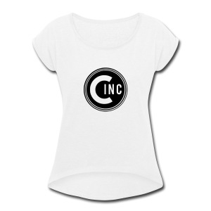 Coasters Inc. Logo - Women's Roll Cuff T-Shirt