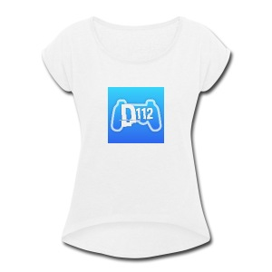 D112gaming logo - Women's Roll Cuff T-Shirt