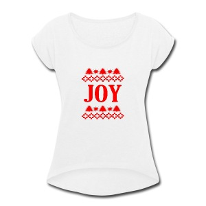 Christmas Joy - Women's Roll Cuff T-Shirt