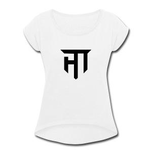 HoMie Black - Women's Roll Cuff T-Shirt