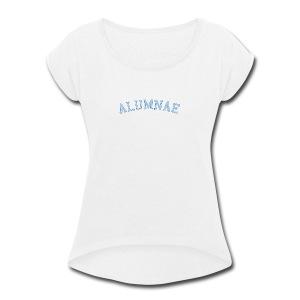 spelmanAlumnae6 - Women's Roll Cuff T-Shirt