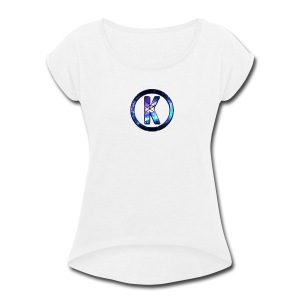 Galaxy K Logo Apparel - Women's Roll Cuff T-Shirt