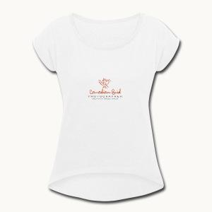 Canadian Bird Photographer - BK Text - Women's Roll Cuff T-Shirt