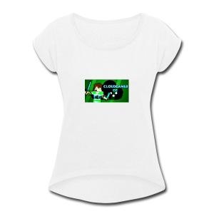 CloudGamer's Shirt (Baby) - Women's Roll Cuff T-Shirt