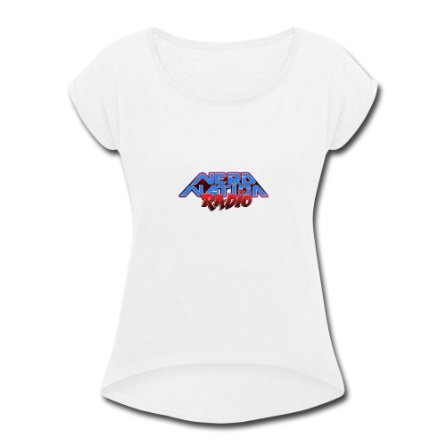Nerd Nation Logo - Women's Roll Cuff T-Shirt