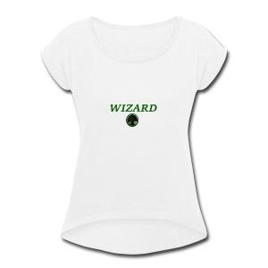 Forest Wizard - Women's Roll Cuff T-Shirt