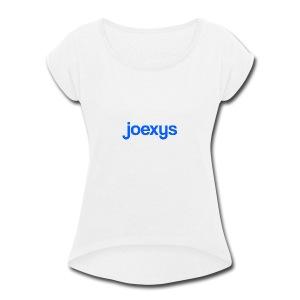 joexys_blue - Women's Roll Cuff T-Shirt