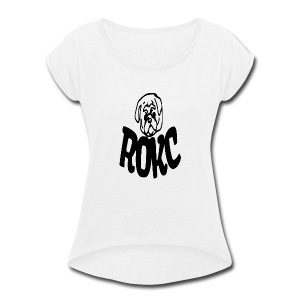 ROKC ALTERNATE LOGO - Women's Roll Cuff T-Shirt
