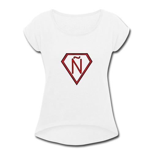 Ñ Red - Women's Roll Cuff T-Shirt