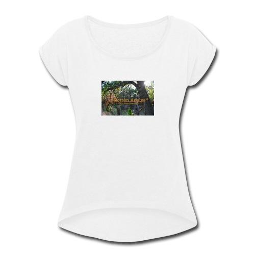 Rotten Apples design - Women's Roll Cuff T-Shirt