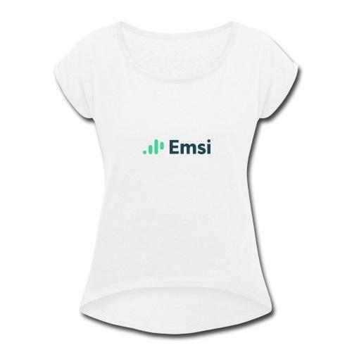 Shirt Full Logo - Women's Roll Cuff T-Shirt