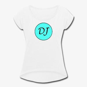 Dani James Brand Logo - Women's Roll Cuff T-Shirt