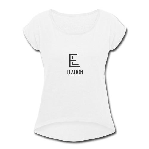ElationDarkLogo - Women's Roll Cuff T-Shirt