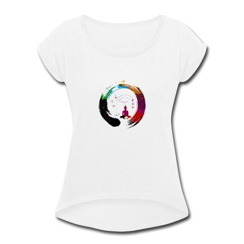 Zen Meditation Yoga Buddha - Women's Roll Cuff T-Shirt