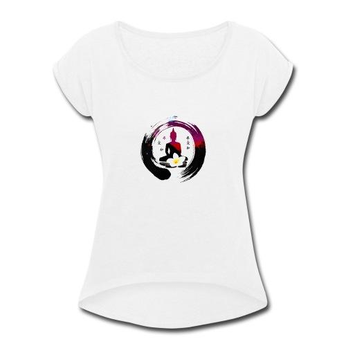 ZEN YOGA MEDITATION BUDDHA - Women's Roll Cuff T-Shirt