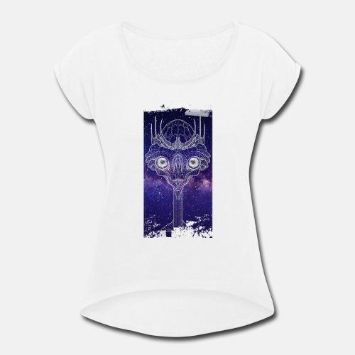 Alien dream purple Tshirt - Women's Roll Cuff T-Shirt